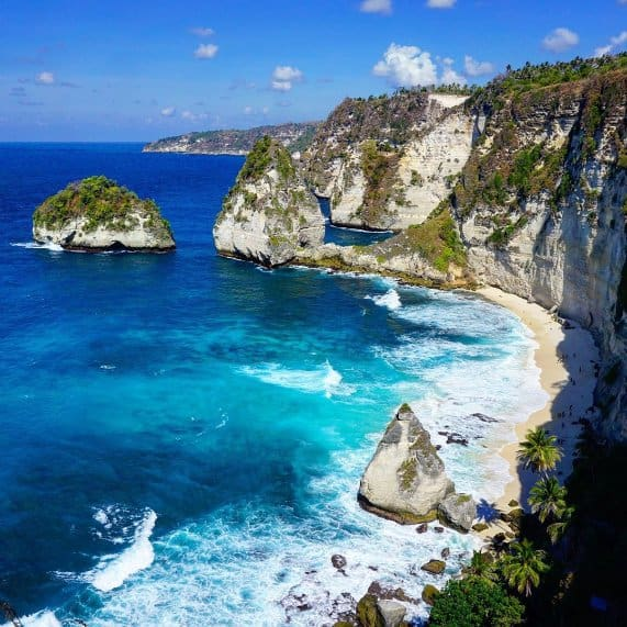 tempat wisata di bali Crystal Bay Beach