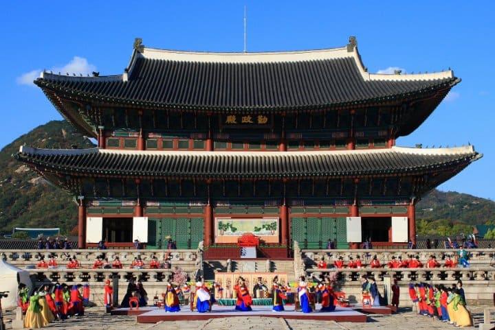 tempat wisata di korea selatan Gyeongbokgung Palace