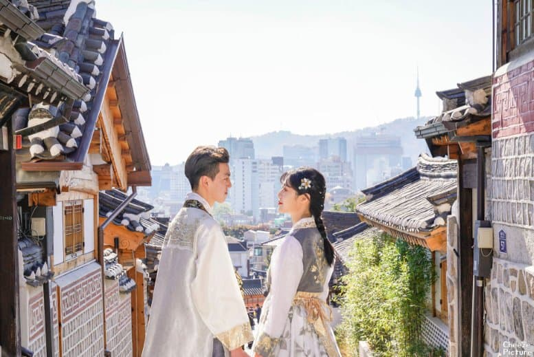 tempat wisata di korea selatan bukchon hanok village