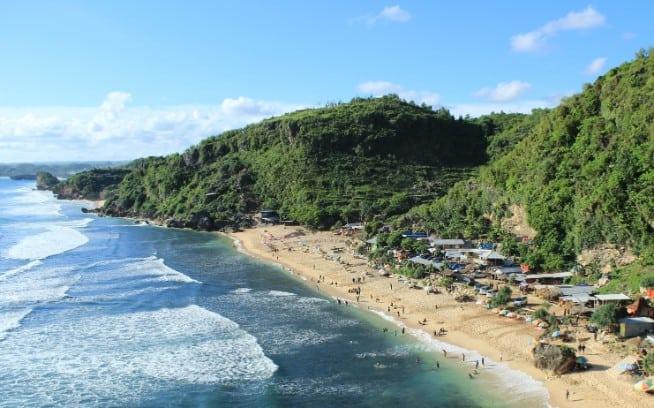 tempat wisata di jogja Pantai Pok Tunggal
