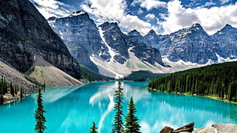 gambar pemandangan indah di luar negeri Taman Nasional Banff Kanada