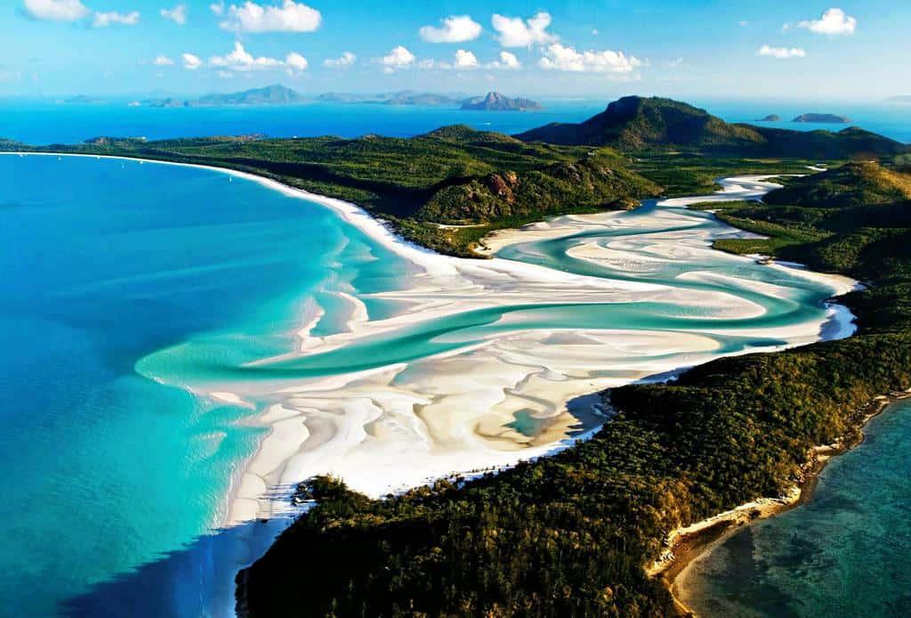 gambar pemandangan indah di luar negeri Whitehaven Beach Australia