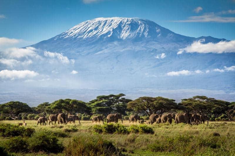 gambar pemandangan indah di luar negeri gunung kilimanjaro tanzania