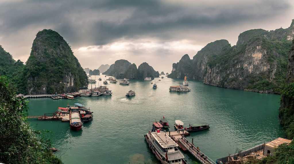 gambar pemandangan indah di luar negeri halong bay vietnam