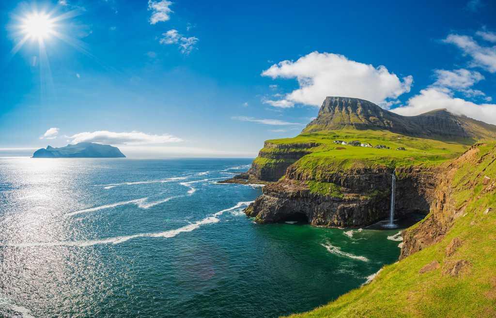 gambar pemandangan indah di luar negeri kepulauan Faroe